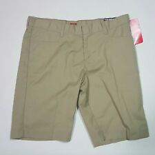 NEW Dickies 16.5 Beige Womens School Wear Shorts Classic Khaki Flex Waist NWT