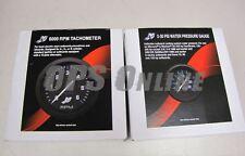 Mercury Outboard Analog Gauge Set - Black - 6K Tachometer , water pressure (w/p)