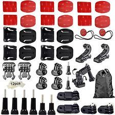 Kit Pack Soportes Adhesivos Pegatina 3M Par Cámara Deportiva Acción Xiaomi Yi 4K