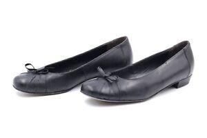 SEMLER Ballerina Slipper Damenschuhe EUR 37,5 UK 4,5 Schwarz Echt Leder