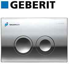 GEBERIT DELTA 21 BRIGHT CHROME DUAL FLUSH PLATE FOR DUOFIX BASIC UP100 CISTERN