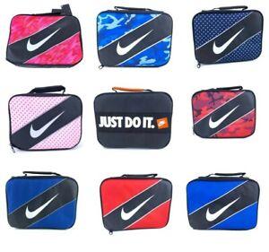 Nike Classic Swoosh Insulated Storage Lunch Box Bag Tote School Work Camp New