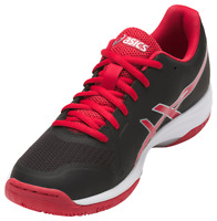Asics Gel-Tactic Women's Volleyball Shoes, Black/Red/Silver, B752N-9023 NEW!