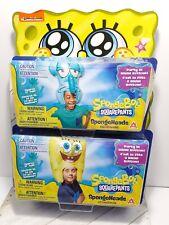 Spongebob Spongehead Costume Hat Inflatable Lot Of 2 spongebob & Squidward NEW