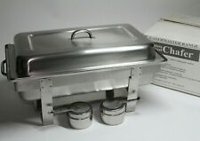 More details for chef set catermaster range full size chafer dish stainless steel unused
