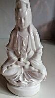 Dehua Guanyin Statue Blanc De Chine Antique Chinese Porcelain Quanyin Qing 19th