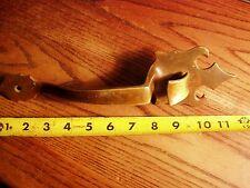 """Vintage  Solid Brass Thumb Latch Door Handle 11 1/2"""""""