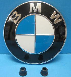 "GENUINE BMW Hood Emblem Roundel OEM # 51148132375 with Grommets 3.25"""