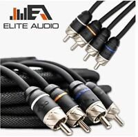 Elite Audio Premium 100%OFC Copper RCA Interconnects 4Ch 20ft Noise Reducing RCA