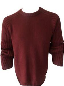 Tommy Hilfiger Men's Unisex Jumper Red size M logo flag crew neck medium warm 2