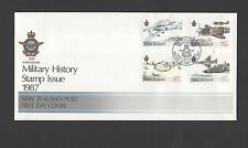 New Zealand 1987 FDC Military History stamp issue set stamps