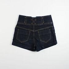 Miss Selfridge Womens Size 8 Blue Denim Shorts Hot Pants