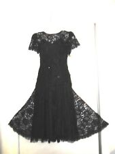 NWT...H W COLLECTIONS COCKTAIL DRESS ~ BLACK LACE/SEQUINS  - SIZE 6