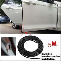 Black Car Door Moulding Rubber Scratch Protector Strip Edge Guard Trim 16FT/5M