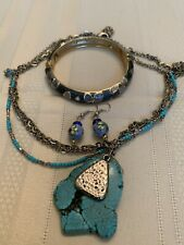 Gorgeous Necklace Turquoise Color Howlite Stone Jewelry Lot
