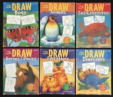 WALTER FOSTER Lot 6 PB I CAN DRAW Bugs,Animals,Sea Creatures,Horses Ponies,Dino+