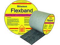 Bitumen Flex Dichtband - 50 mm Rolle 10 m  Dehnbarkeit bis 30 %