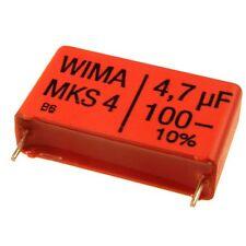 2 WIMA Metallisierter Polyester-Kondensator MKS4 100V 4,7uF 27,5mm 089846