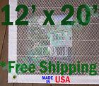 12' x 20' Clear Poly Tarp Room Divider Patio Porch Enclosure Fumigation Curtain