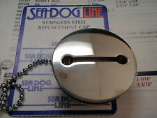 DECK FILL REPLACEMENT CAP AND CHAIN STAINLESS SEADOG 3513901 FUEL WATER GAS