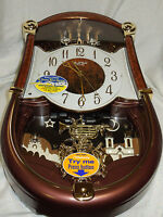 RHYTHM MUSICAL CLOCK - CONCERTO ENTERTAINER II CLARION TONE 30 MELODIES 4MH889