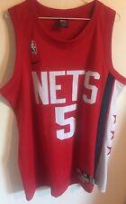 Jason Kidd New Jersey Nets Nike Rewind NBA Jersey Hwc Red Men M Nwot Vtg #5