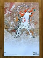 2008 Official Okami Nintendo Wii Double Sided Poster Authentic Amaterasu Art