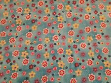 Wale Fine Corduroy Floral Print Flowers Sewing Craft Project Fabric 2 Yards X 45