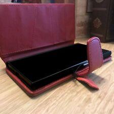 Ejecutivo de cuero auténtico tipo billetera urbano caso Original Apple iPhone 8 Rojo