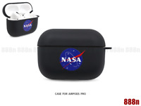 Nasa Apollo Black Soft Case Cover For Apple Airpods (1ST & 2nd Generation)