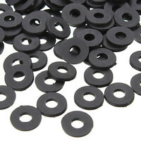 100PCS Black Flat Ring Nylon Washer Gaskets for M3 Screws OD 8mm ID 3mm T 1mm
