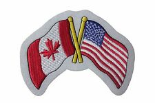 "CANADA & USA Friend..Country Flags Iron-On PATCH CREST BADGE..Size: 3.5""X4.5"""