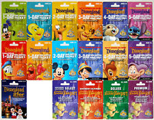 17 Different DISNEYLAND 50th Anniversary 2005 Passport Gift Cards Mint Complete