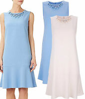 New Wallis size 10 - 18 Blue Nude Embellished Flippy Party Vintage 20's Dress