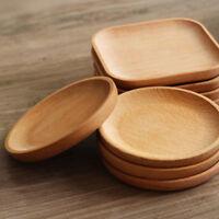 Plat rond en bois de nourriture de plat de nourriture de casse-croûte de