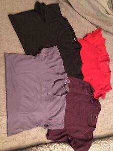 lululemon lot of 4 swiftly tech short Sleeve shirts tops 2.0 size 10 m med