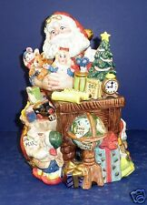 Fitz and Floyd Santa's Magic Workshop Cookie Jar- New in Box-19/302