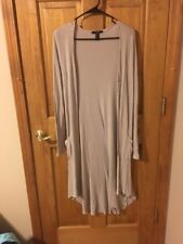 Forever 21 Cream Knee length Cardigan size small