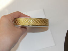 15mm gold jacquard embroidered ribbon applique trimming