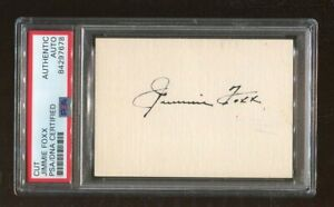 Jimmie Foxx Signed Cut 3.5x2.5 Inches Autographed A's Red Sox PSA/DNA 84297678