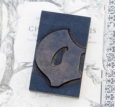 """letter: o blackletter wood type 3.54"""" woodtype font letterpress printing block"""