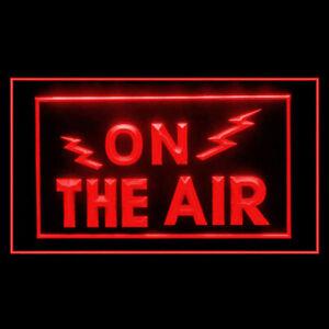 140002 On The Air Radio Record Podcasting Studio Display LED Light Neon Sign