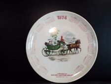 """Walter's Auction Gallery Macungie PA 1974 Calendar Plate 9 1/4"""""""