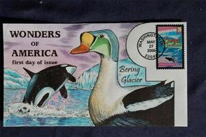Wonders of America Bering Glacier 39c Stamp FDC HP Collins#N4104 Sc#4036