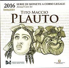 Euro ITALIA 2016 Folder Ufficiale 9 Monete PLAUTO