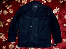 $265 GUESS Mens Dark Black Peacoat Jacket Size 2XL XXL Authentic Coat