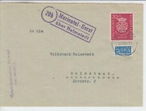 Fédéral 122 Bach Ef Landpoststempel Mariental - Horst Sur Helmstedt Beleg