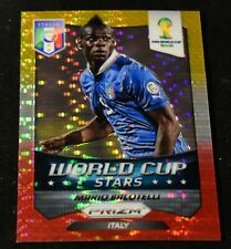 2014 Panini Prizm World Cup Stars Red Yellow Pulsar #26 Mario Balotelli Italy
