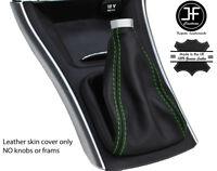 MERCEDES CLASSE B W245 05-11 noir cuir véritable vert st volant couvrir de nouveaux