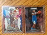 2019-20 Prizm Draft Picks Red White Blue RUI HACHIMURA /99 & Zion Williamson RC